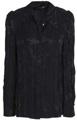 Roberto Cavalli Pleated Jacquard Shirt