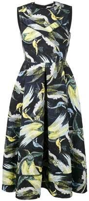 Erdem Alana night bird print dress