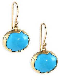 Annette Ferdinandsen 18k Gold and Turquoise Drop Earrings