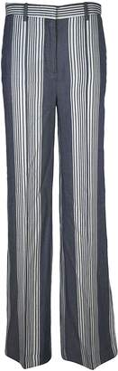 Victoria Beckham Striped Wide Leg Trousers