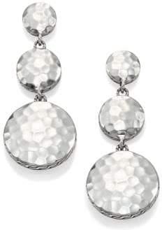 John Hardy Palu Sterling Silver Disc Triple Drop Earrings