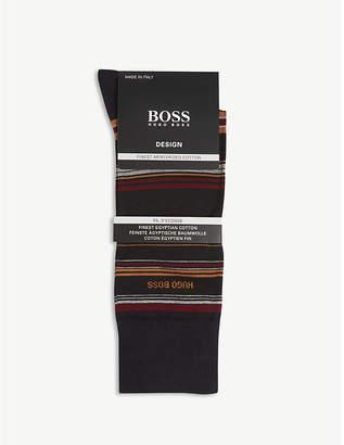 BOSS Design multi-stripe cotton-blend socks