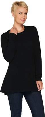 Isaac Mizrahi Live! 2-Ply Cashmere Peplum Tunic Sweater