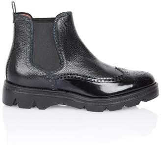 Santoni Urban Brogue Ankle Boot
