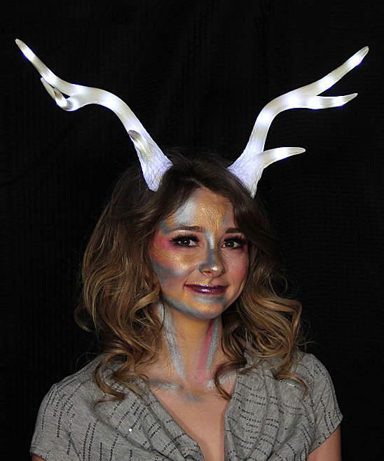White Light-Up Deer Antler