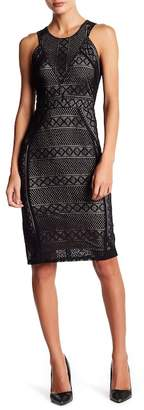 BCBGMAXAZRIA Dena Crochet Lace Dress