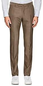 Incotex Men's S-Body Slim-Fit Technowool Trousers-Beige, Tan