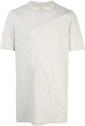 Rick Owens embossed strip longline T-shirt