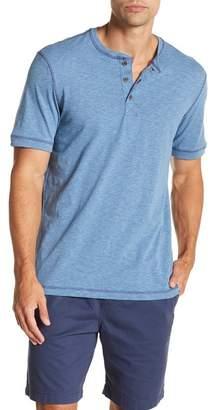 Weatherproof Short Sleeve Solid Henley