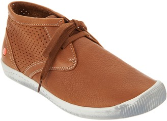 Fly London Softinos by Leather Lace-up Sneakers - Ink