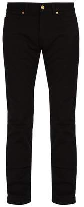 Versace - Printed Pocket Slim Leg Jeans - Mens - Black