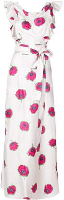 La Double J Papaveri Ruffle Wrap Dress