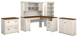 Beachcrest Home Oakridge 5 Piece L-shaped Desk Office Suite