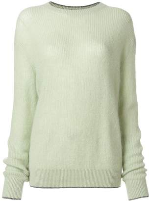 Christopher Kane metallic trim jumper