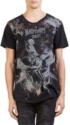 Balmain All Over Galaxy Print Tee