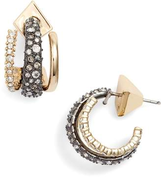Alexis Bittar Floating Orbit Hoop Earrings