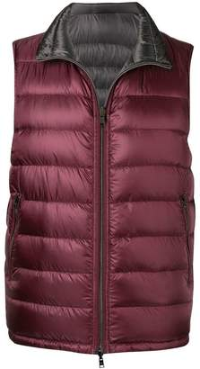 Herno zipped padded vest