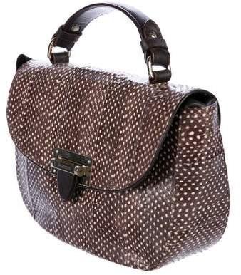 Aspinal of London Snakeskin Letterbox Saddle Bag