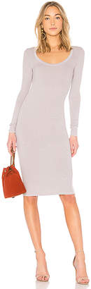 Enza Costa Scoop Long Sleeve Dress