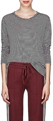 Etoile Isabel Marant Women's Kaaron Striped Linen-Cotton T-Shirt - Lilac