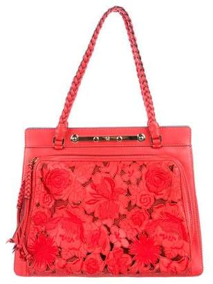 Valentino Leather Lace Demetra Bag