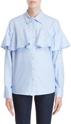 Paul & Joe Sister Alpilles Micro Check Ruffle Shirt