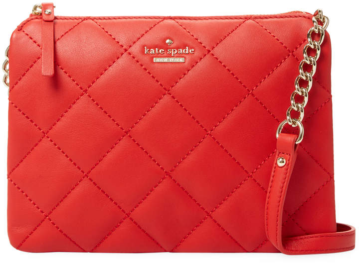 Kate Spade New York Women's Emerson Place Harbor Quilted Leather Crossbody