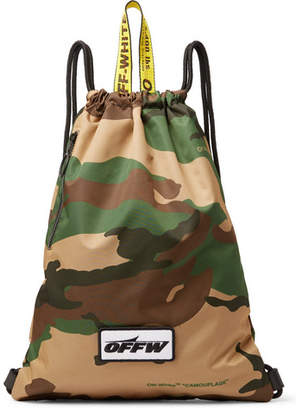 Off-White Camouflage-Print Shell Drawstring Backpack