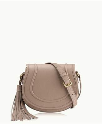 GiGi New York Jenni Saddle Bag In Tan Pebble Grain