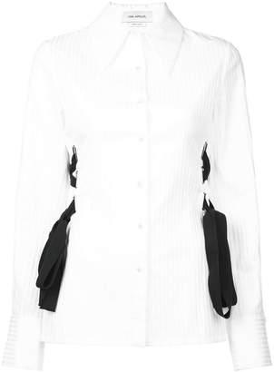 Yigal Azrouel lace detail button-up blouse