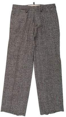 DSQUARED2 Wool Herringbone Dress Pants