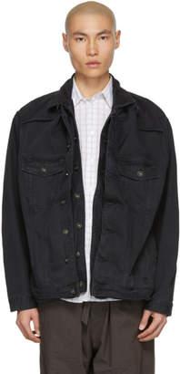 Y/Project Black Denim Pop-Up Jacket