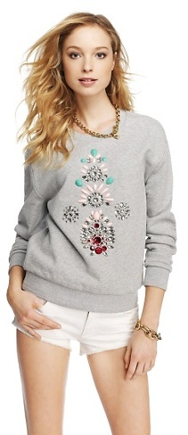 Juicy Couture Stone Embellished Pullover