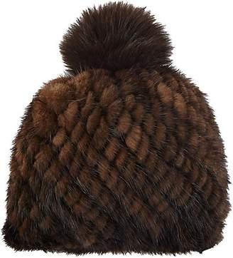 Barneys New York Women's Mink & Fox Fur Beanie - Brown