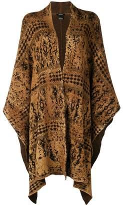 Avant Toi patterned oversized cardigan
