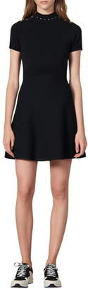 Sandro Liora Fit & Flare Sweater Dress