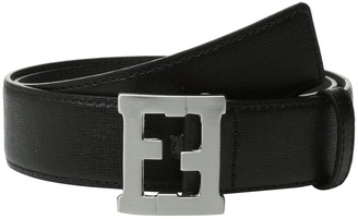 Fendi Kids - Logo Buckle Leather Belt Boy's Belts $204.60 thestylecure.com