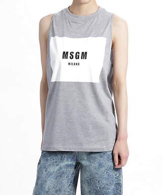 MSGM (エムエスジーエム) - [MSGM] ロゴタンクトップ(2241MDM143)