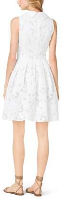 Michael Kors Floral Fil Coupe Dance Dress