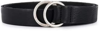 Closed round buckle belt
