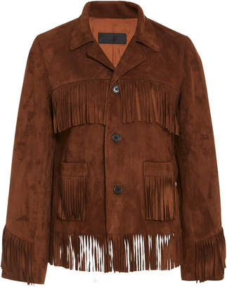 Nili Lotan Frida Fringed Suede Jacket