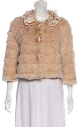 Hanii Y Embellished Fur Jacket