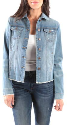 KUT from the Kloth Arielle Frayed Denim Jacket