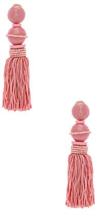 Oscar de la Renta Ball Tassel Earrings