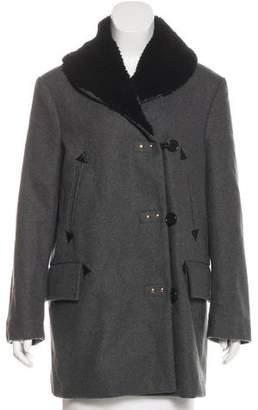 Marni 2012 Shearling-Trimmed Coat
