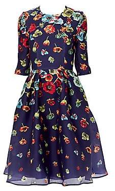 Carolina Herrera Women's Silk Floral Fit-&-Flare Dress
