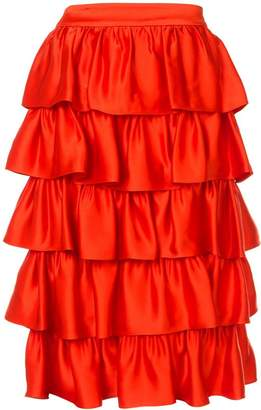 Stella McCartney ruffled midi skirt