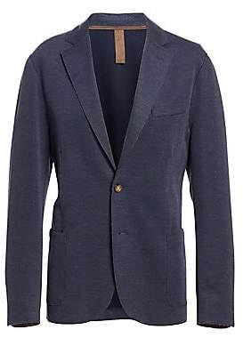 Eleventy Men's Regular-Fit Cotton Pique Laser-Cut Jersey Jacket