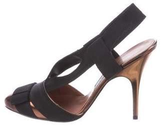 Lanvin Grosgrain Slingback Sandals