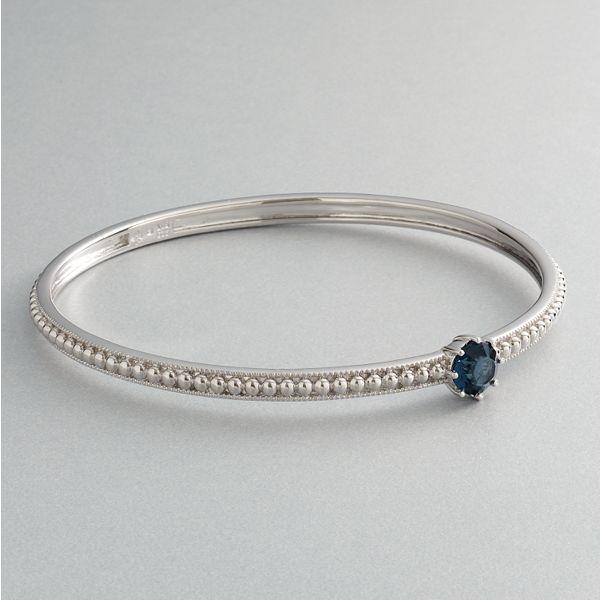 Simply vera vera wang sterling silver montana crystal bangle bracelet